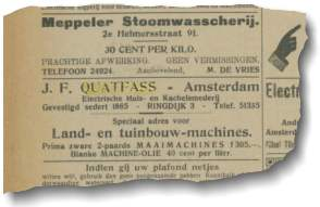 advertentie weesper courant 1924